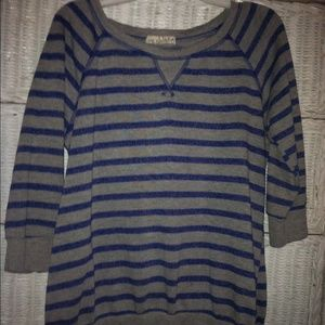Blue & Grey Striped Shirt/ Sweater